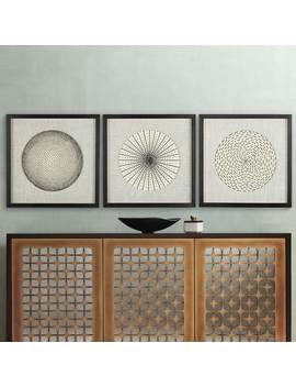 """Dainty Burst 23 3/4"""" High Wall Art Set Of 3 by Lamps Plus"""