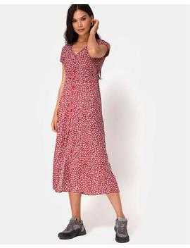 sanrin-dress-in-ditsy-rose-red-silver-by-motel by motel