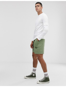 asos-design-muscle-sweatshirt-with-utility-sleeve-pocket-in-white by asos
