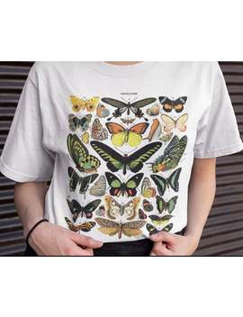 t-shirt-vintage-butterfly,-butterfly-drawing-t-shirt by etsy