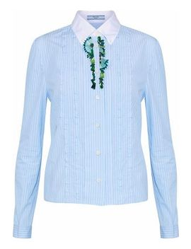 embellished-striped-cotton-poplin-shirt by prada