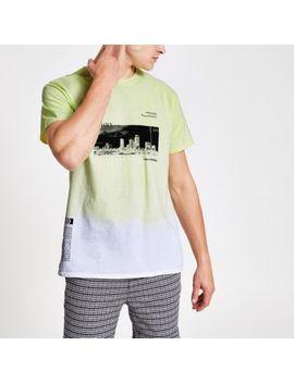 green-tie-dye-printed-t-shirt by river-island