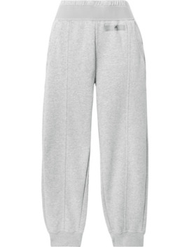 essentials-cotton-blend-fleece-track-pants by adidas-by-stella-mccartney