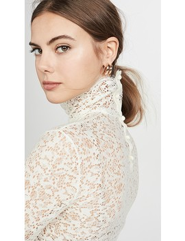 lace-high-neck-blouse by edition10