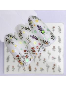 floral-nail-stickers---nail-art-stickers---nail-water-decals---flower-nail-decals---nail-decals---nail-wraps---nail-tattoos by etsy