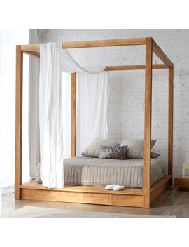 Teak Middlebrook Canopy Bed by Allmodern