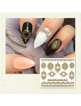 nail-stickers---gold-nail-stickers---nail-art-stickers---nail-print---nail-art-decals---design-nail-art---nail-decals---nail-wraps by etsy