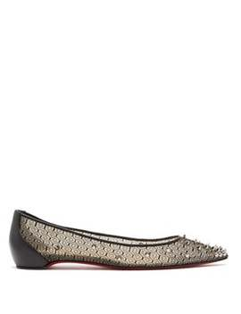 spike-embellished-lace-ballet-flats by christian-louboutin