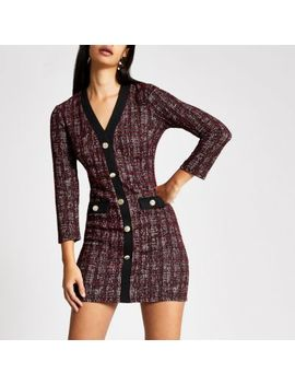 red-check-boucle-cardigan-dress by river-island