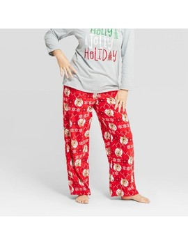 womens-holiday-rudolph-the-red-nosed-reindeer-fleece-pajama-pants---red by shop-this-collection