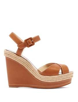 almeria-120-jute-trim-leather-wedge-sandals by christian-louboutin
