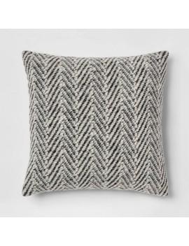 square-knit-herringbone-throw-pillow-gray---threshold by threshold