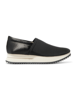 otylia-faille-and-satin-slip-on-sneakers by pedro-garcia