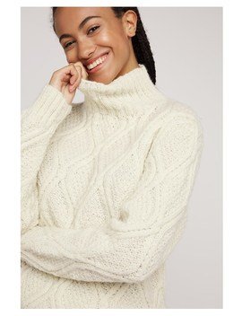Fishermans Jumper In Cream by People Tree