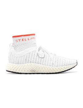alphaedge-4d-logo-intarsia-primeknit-sneakers by adidas-by-stella-mccartney