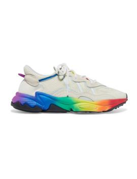 ozweego-pride-suede-trimmed-mesh-sneakers by adidas-originals
