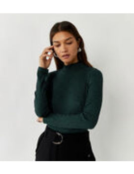 Space Dye Funnel Neck Top by Warehouse