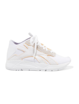 bolton-stretch-knit,-leather-and-suede-sneakers by reebok-x-victoria-beckham