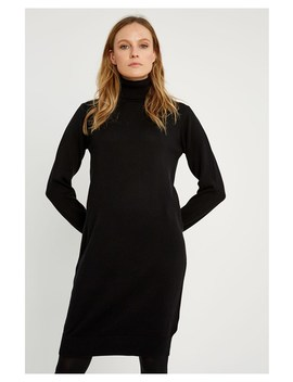 Millie Knitted Dress In Black by People Tree