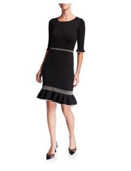 neiman-marcus-knit-ruffle-trim-sheath-dress by neiman-marcus