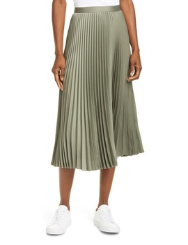 annina-pleated-satin-skirt by club-monaco