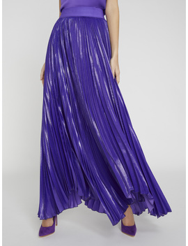 Katz Violet Pleated Maxi Skirt by Alice And Olivia