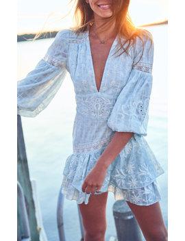 Abitha Sky Blue Dress by Love Shack Fancy