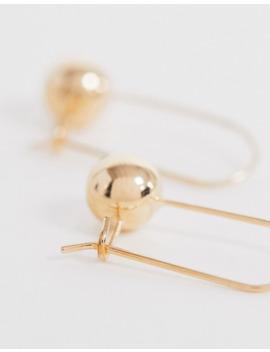 weekday-drop-ball-earrings-in-gold by weekday