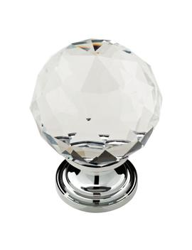 1-3_16-in-(30mm)-chrome-and-clear-faceted-glass-cabinet-knob by liberty