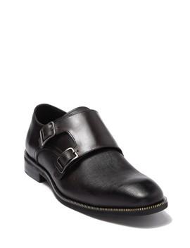 Double Monk Strap Leather Zipper Teeth Shoe by Karl Lagerfeld Paris