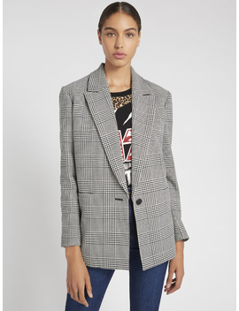 Denny Plaid Boyfriend Blazer by Alice And Olivia