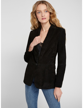 Macey Suede Shawl Collar Blazer by Alice And Olivia