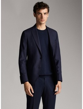 navy-blue-check by massimo-dutti