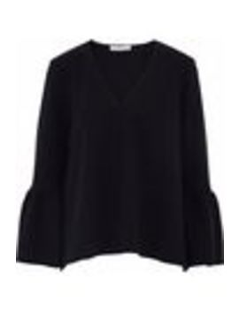 fluted-stretch-crepe-blouse by tibi