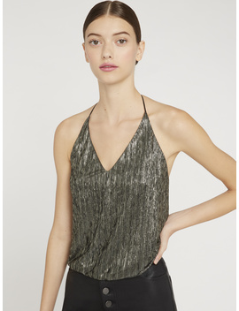 Fern Metallic Halter Top by Alice And Olivia