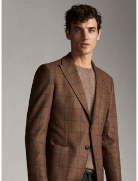 check-wool-blazer-personal-tailoring by massimo-dutti