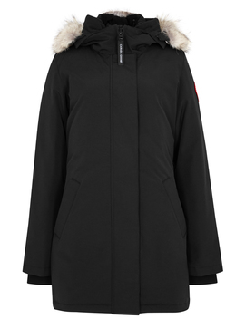 Victoria Black Fur Trimmed Parka by Canada Goose