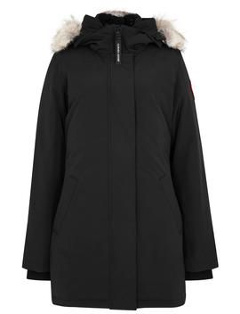 victoria-black-fur-trimmed-parka by canada-goose