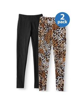 no-boundaries-juniors-print-&-solid-sueded-jersey-leggings-2pk-value-bundle by no-boundaries