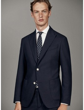navy-wool-and-flannel-blazer by massimo-dutti