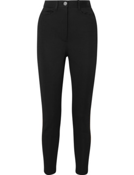 intarsia-trimmed-cady-skinny-pants by fendi