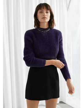 Fluffy Mock Neck Wool Blend Sweater by & Other Stories