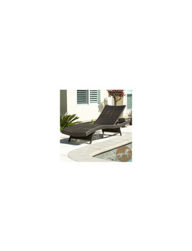 Christopher Knight Home Outdoor Brown Wicker Adjustable Chaise Lounge             Awesome!!!! by Christopher Knight Home