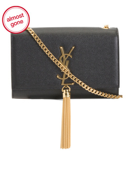 made-in-italy-leather-kate-chain-tassel-wallet by saint-laurent