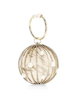 sasha-crystal-embellished-round-bar-clutch by rosantica