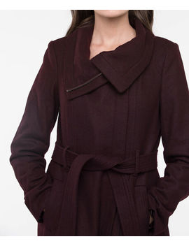 Belted Wool Blend Coat by Ricki's