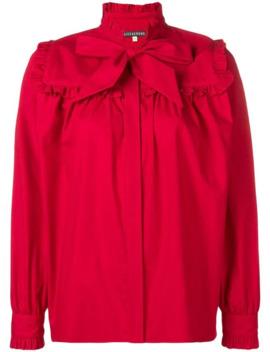 bow-detail-ruffle-trim-shirt by alexa-chung
