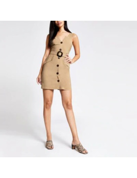 beige-utility-pinafore-dress by river-island