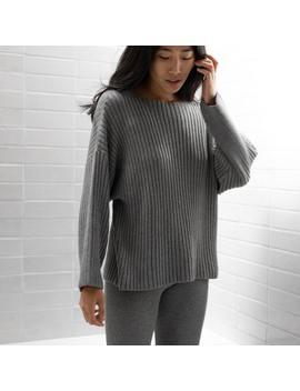 cozy-pima-alpaca-ribbed-pullover by lunya