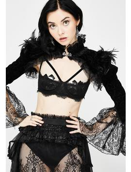 lace-bell-sleeve-tulle-collar-shrug by devil-fashion